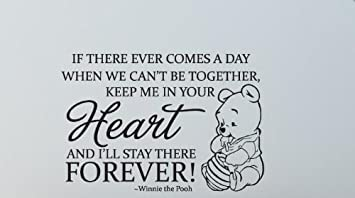 Fungoo Winnie The Pooh Quote Wall Art Words Sticker KEEP ME IN