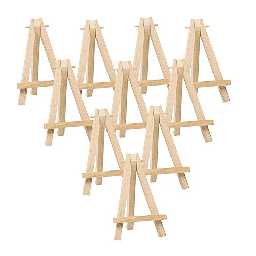 Mini Easel Stand (Mayitr 10pcs Mini Wooden Artist Easel Triangle Cards Stand Display)