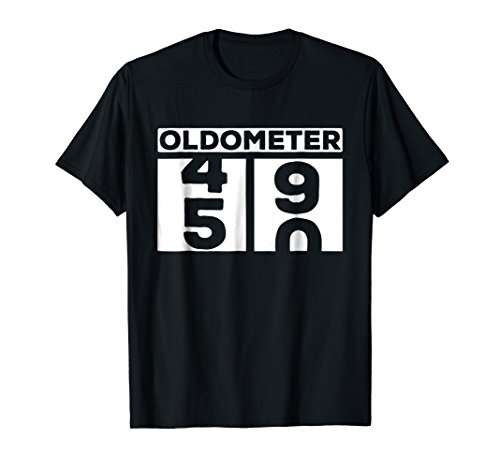 Funny Birthday 50th (Oldometer 50 T-Shirt 50th Birthday Gift Funny)