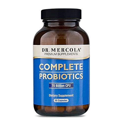 Dr. Mercola Complete Probiotics - 90 Day Supply - Probiotic Supplement - 70 Billion CFU - Acid & Bile Resistant - Promotes Digestive Health and Supports Immune System