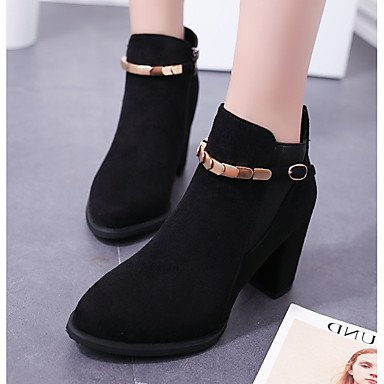 Nubuck RTRY Fashion Boots 5 Dress Booties Heel 5 CN37 UK4 Buckle Toe Casual Ankle 5 7 For Boots Leather Pointed US6 Shoes Chunky Women'S Spring Comfort Fall Boots EU37 rqCqEwxA0