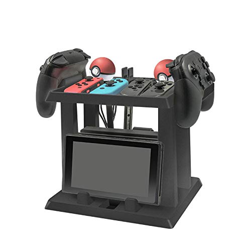 DeHasion Multifunctional Game Disk Storage Tower Holder Stand for Nintendo Switch Console Accessory 2 Poke Ball Plus Controllers Stand Holder from DeHasion