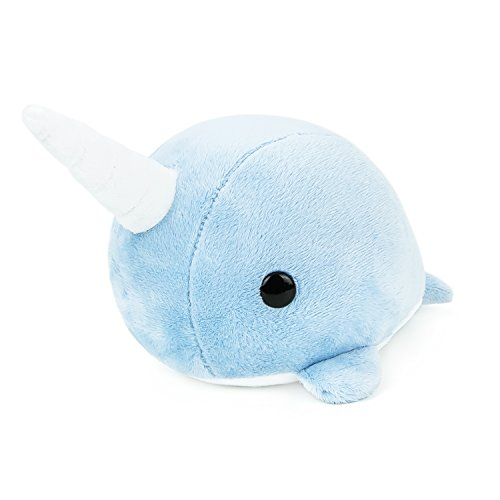 Bellzi Blue Narwhal Stuffed Animal Plush Toy - Adorable Whale Toy Plushies and Gifts! - Narrzi