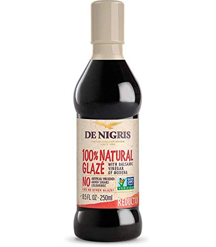 De Nigris 100% Natural Glaze Balsamic Vinegar 1 De Nigris 100% natural glaze is an award-winning product featuring the bold flavor of classic balsamic vinegar. It is made from all-natural ingredients usi