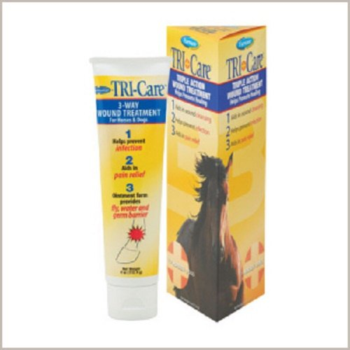 - Farnam 4 oz Tri-Care Triple Action Wound Treatment Helps Promote Healing for Horses and Dogs