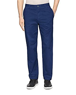 Calvin Klein Men's Cotton Soft Washed Pant 38 / 30, Officer Navy
