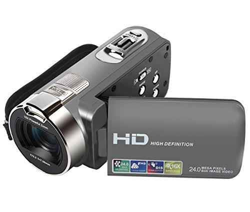 ANDEX  Camera Camcorders,  HD 1080P 24MP 16X Digital Zoom Video Camcorder with 2.7″ LCD and 270 Degree Rotation Screen