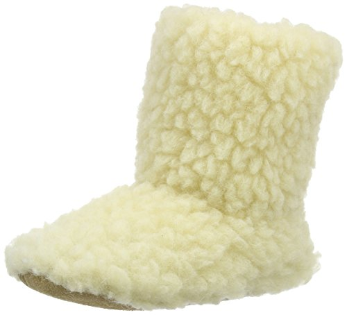 Woolsies Damen Aconca Natural Wool Hohe Hausschuhe Beige (Cream)