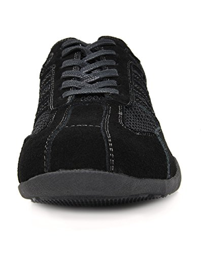 Bruno Marc Mens Conway-01 Suede Leather Driving Oxfords Shoes Black 4NqP9oS