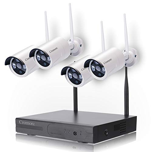 Cheap Wireless Security Camera System WiFi NVR Kit CCTV 4CH 1080P NVR 4pcs 960P Indoor Outdoor Bullet IP Cameras P2P IR Night Vision Waterproof Plug and Play no Hard Drive