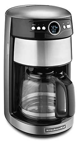 KitchenAid KCM1402CU 14-Cup Glass Carafe Coffee Maker - Contour Silver (Kitchenaid 14 Cup Coffee Maker)