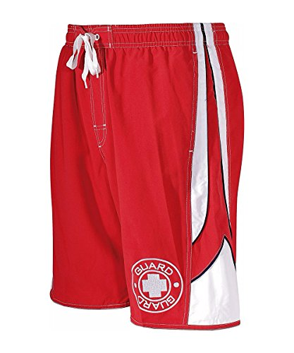 TYR Sport TGTR5A Mens Guard Aero Trunks,Red,L