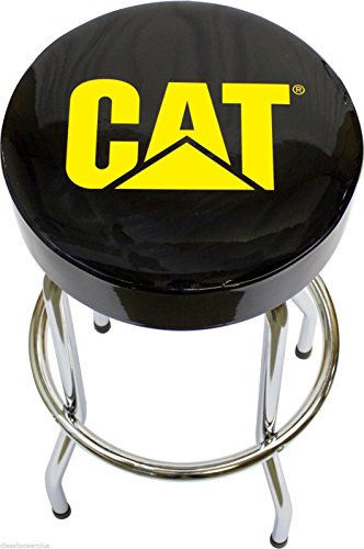 CAT Garage Stool Cat Caterpillar Semi Truck Motor Tractor Bar Stool Chair Shop Bench Garage Tract by Diesel Power Plus