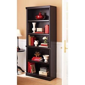 Ashwood Road 5-Shelf Bookcase Estate Black