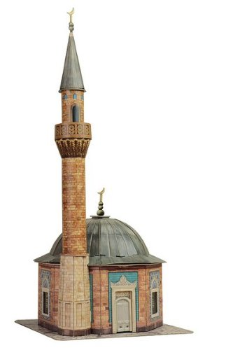 Keranova-324-1-87-Scale-Clever-Paper-Temples-of-the-World-Konak-Mosque-3D-Puzzle-135-x-31cm