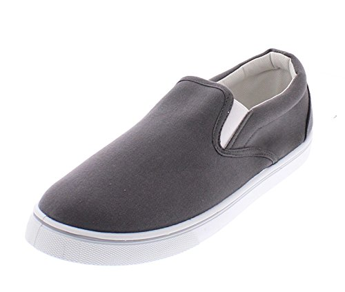 Gold Toe Goldtoe Männer Doug Memory Foam Canvas Schuhe Casual Slip On Sneakers Spitzenlose Loafer Skate Deck plimsolls Holzkohle