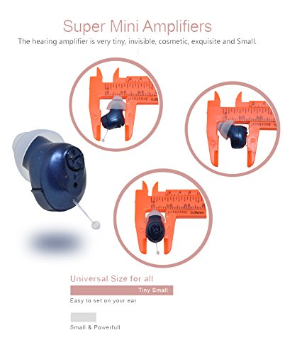 Super Mini,Dark Blue,in-The-Canal (ITC),2-Pack New Digital Hearing Amplifier, Clearly Technology, Interchangeable, Suitable for Men and Women, Trademark: Easyuslife by EASYUSLIFE (Image #3)