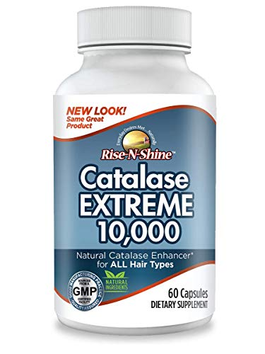 Catalase Extreme 10,000 Catalase Enzyme Hair Supplement With Catalase, Saw  Palmetto, FoTi, Biotin, PABA and More 60 Count