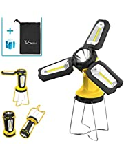 Tesecu LED Camping Lantern, LED Campinglampe Tragbar Faltbare Mehrfachbeleuchtungsart Camping Zubehör für Angeln, Wandern, Camping, Notfall, Hurrikan, Stromausfall