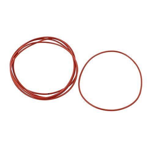 DealMux 5Pcs Red 70 mm x 1,5 mm de caucho de silicona Gasket O anillo de estanqueidad del anillo a prueba de calor