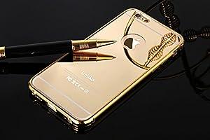 amazoncom iphone 6 plus golden mirror case umikotm