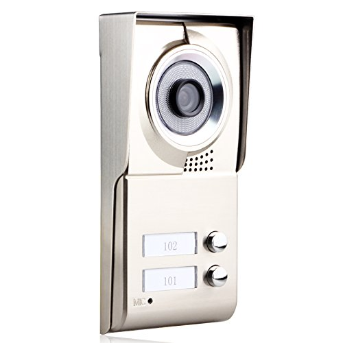 MOUNTAINONE 2 Apartment/Family Video Door Phone Intercom System 1 Doorbell Camera with 2 button 2 Monitor Waterproof SY811WMC12 by MOUNTAINONE (Image #5)