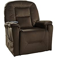 Ashley Furniture Signature Design - Samir Power Lift Recliner - Chic Reclining Couch - Includes Heat & Massage Function - Coffee