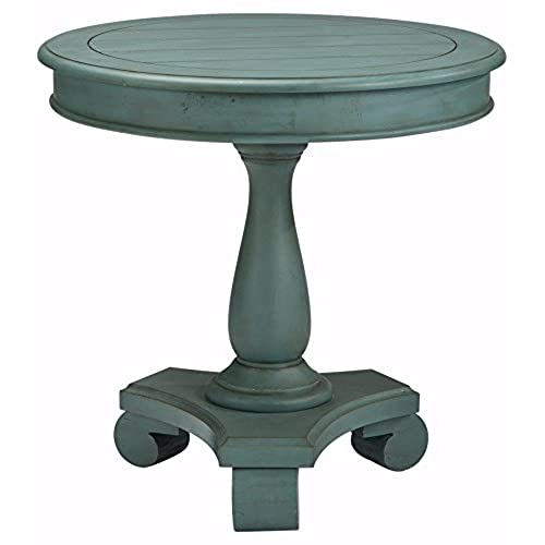 Ashley Furniture Signature Design   Cottage Accents End Table   Cottage  Style   Round   Soft Blue