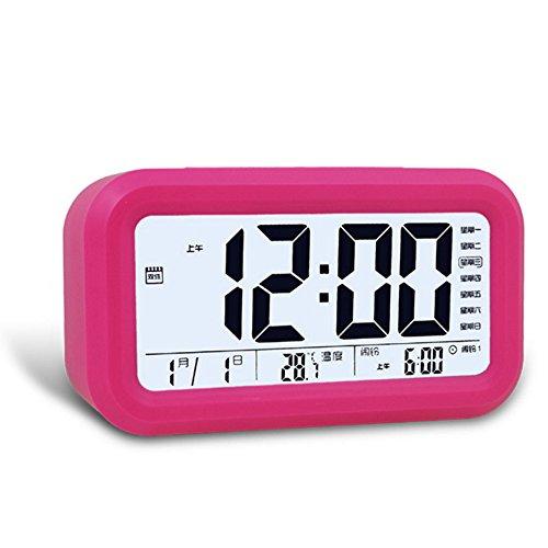 Ieasycan Digital Alarm Clock Low Light Sensor Technology snooze and