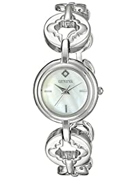 Geneva Women's FMDJT101C Analog Display Japanese Quartz Silver Watch