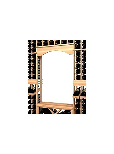 WineMaker Series Wine Rack - Archway and Table Top Insert - Pine Unstained