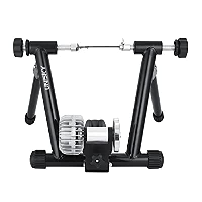 VEVOR Indoor Bike Trainer Exercise Stand with Resistance Shifter Portable Fluid Trainer Resistance Stationary Road Machine Bicycle Exerciser Magnetic Resistance