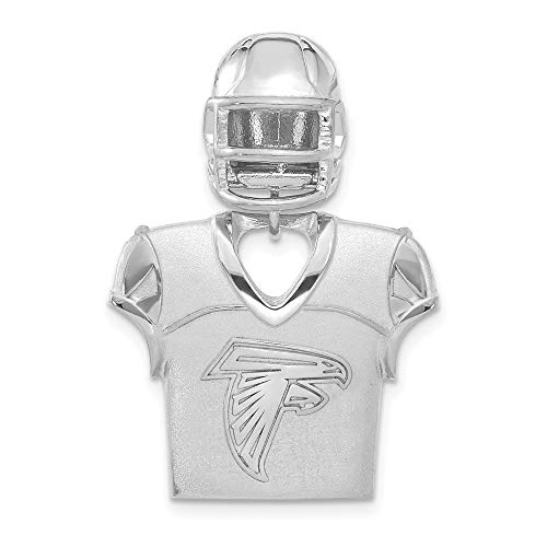 - NFL Sterling Silver Atlanta Falcons Jersey and Helmet Pendant