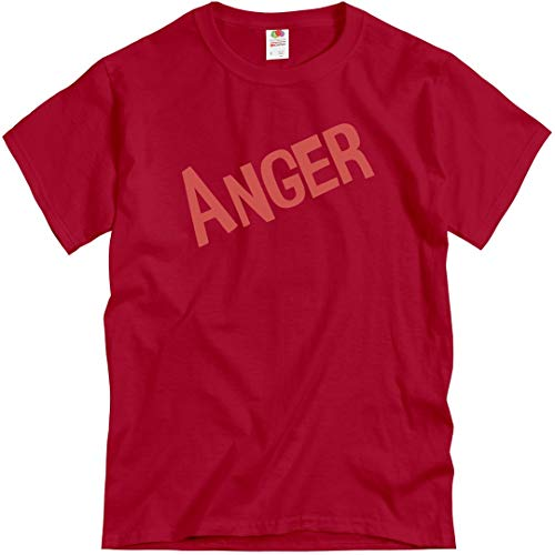 Adult Anger Costume: Unisex T-Shirt True Red]()