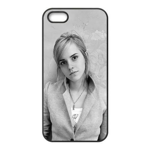 Emma Watson en noir et blanc DF53LN1 coque iPhone 5 5s cas de téléphone portable coque Z1WO1E4WC