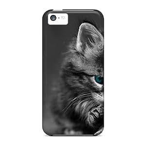 New Tpu Hard Case Premium Iphone 5c Skin Case Cover(pure Tenderness Kitten)
