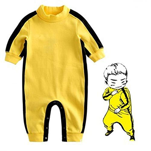 Infant Baby Boys Long Sleeve Outfit Classic Romper Bruce Lee Jumpsuit (1#, 70/Fit 6-12 -