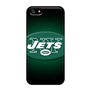 Protective Hard Phone Cases For Iphone 5/5s With Support Your Personal Customized High-definition New York Jets Pattern RudyPugh