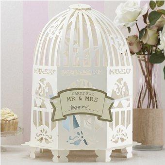- Ginger Ray VL-223 Ivory Vintage Birdcage Wedding Card Post Box