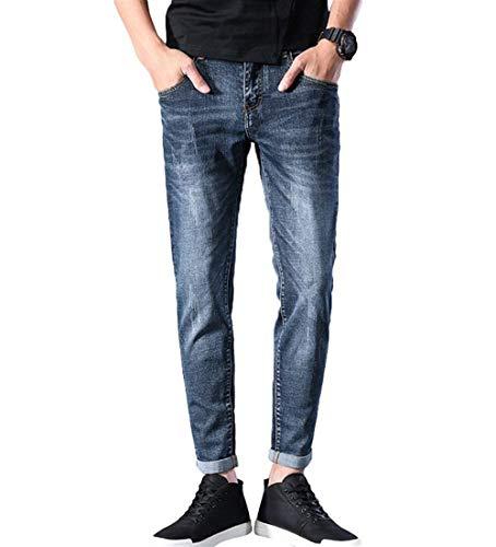 Slim Leg Straight Pantalones Sweat Pantalones Skinny Suaves Denim Casuales Alsbild Denim Pants Pants Cómodos Fit Vaqueros Elásticos YwYrqEg