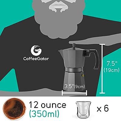 Cafetera Gator Espresso Moka - Cafetera rápida para Cocina ...