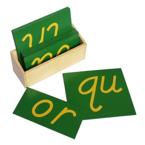 Montessori Lower Case Double Sandpaper Letters w/ Box - D...