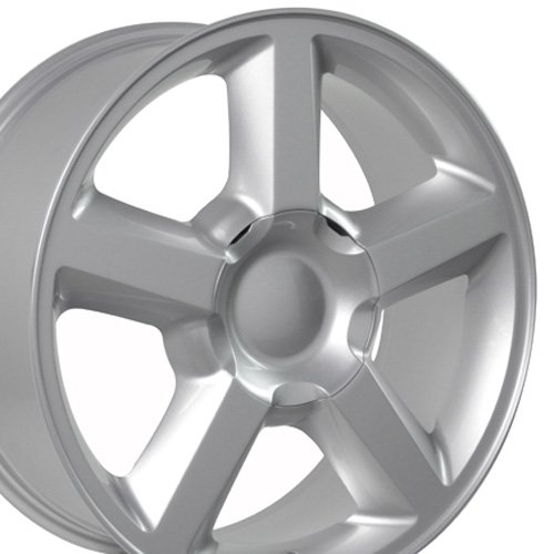 20×8.5 Wheel Fits GM Trucks & SUVs – Chevy Tahoe Style Silver Rim, Hollander 5308