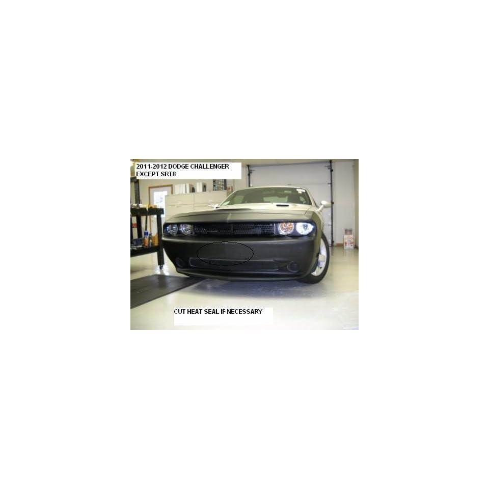 Lebra 2 Piece Front End Cover Black   Car Mask Bra   Fits   Dodge Challenger (Except Srt8) 2011 2012 2013 2014 11 12 13 14