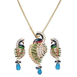 Mela 3D Peacock Jewelry Set - 3 Pieces, PS-9