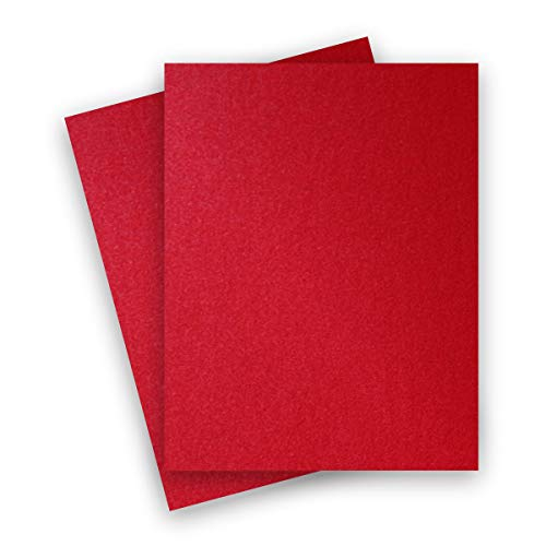 (Metallic Jupiter Red 8-1/2-x-11 Lightweight Multi-use Paper 25-pk - PaperPapers 120 GSM (81lb Text) Letter size Everyday Metallic Paper - Professionals, Designers, Crafters and DIY)