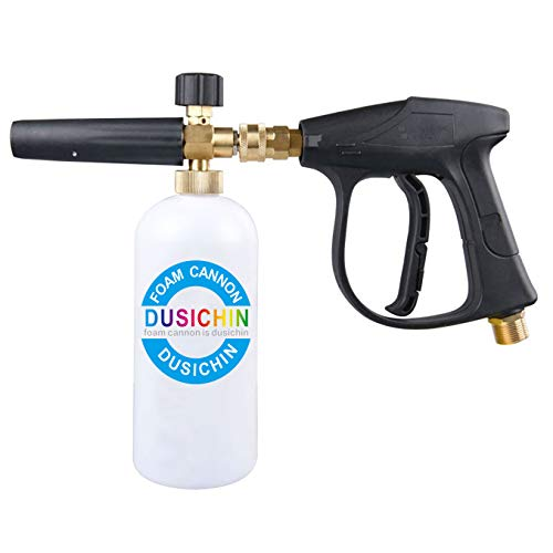 DUSICHIN DUS-003 Snow Foam Lance Foam Cannon with Water Sprayer Gun Wand Spray for Pressure Washer Car Detailing Not for Garden Hose