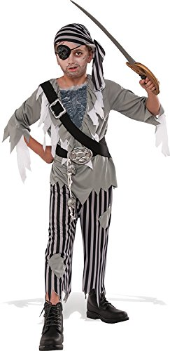 Boys Ghost Costume Pirate (Rubies Costume Child's Ghostly Boy Pirate Costume, Medium,)
