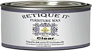Retique It by Renaissance Clear Furniture Wax 16 oz (Pint), Clear Wax
