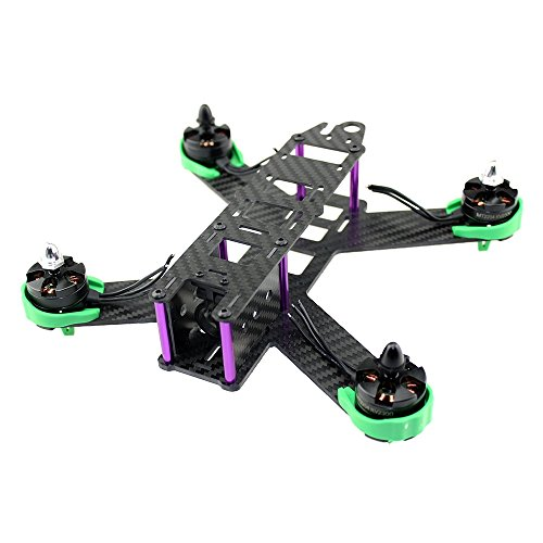 QAV210 Mini 210mm Pure Carbon Fiber with Motor Protection Cover Mount Seat Quadcopter Frame For Lisam LS-210 QAV210 Accessories (Ls Protection)